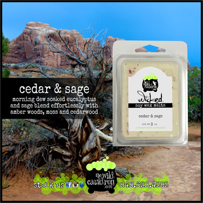 Cedar and Sage Wicked Wax Melts