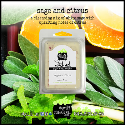 Sage and Citrus Wicked Wax Melts