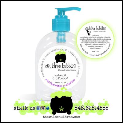 Amber and Driftwood Cauldron Bubbles Hand Soap