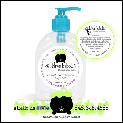 Elderflower and Quince Cauldron Bubbles Hand Soap