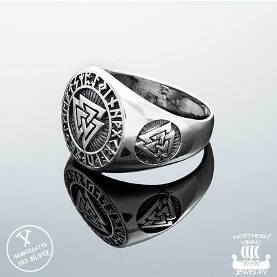NORTHERN VIKING JEWELLERY Valknut -sormus