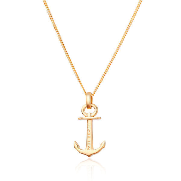 PAUL HEWITT Necklace Anchor Spirit Plated Gold