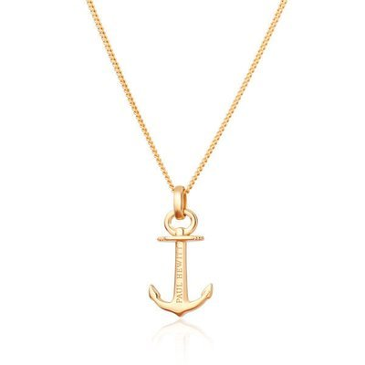 PAUL HEWITT Necklace Anchor Spirit Plated Gold