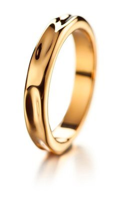 LUMOAVA Hunaja -vihkisormus kultaa
