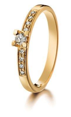 LUMOAVA Diana -vihkisormus kultaa