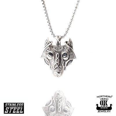 NORTHERN VIKING JEWELRY Guardian Wolf -riipus