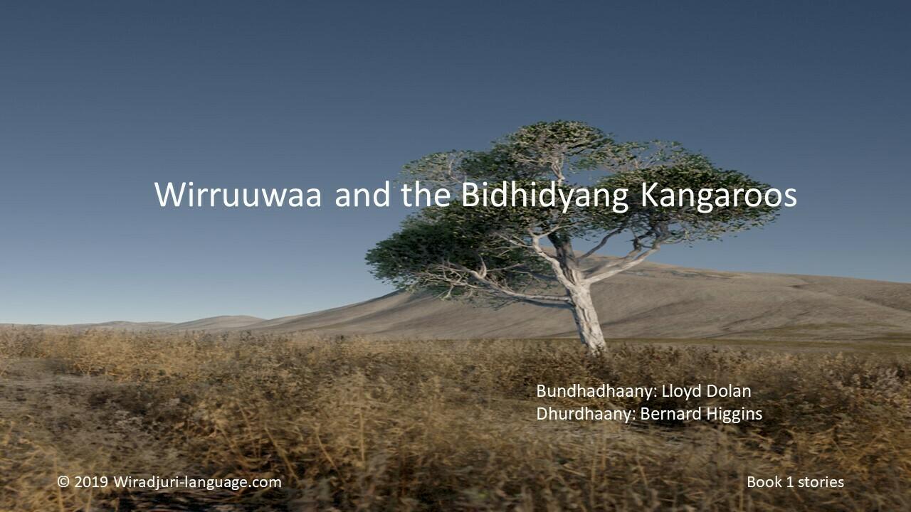 Story Book 1: Wirruuwaa and the bidyidyang kangaroos