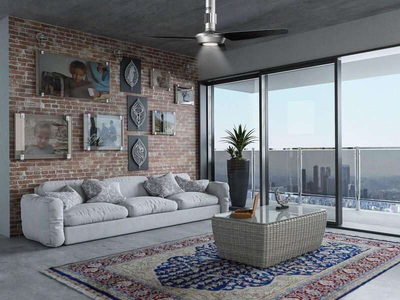 MOMO Design 140-29 | Ventilador de techo de diseño italiano con aspas de fibra de carbono.