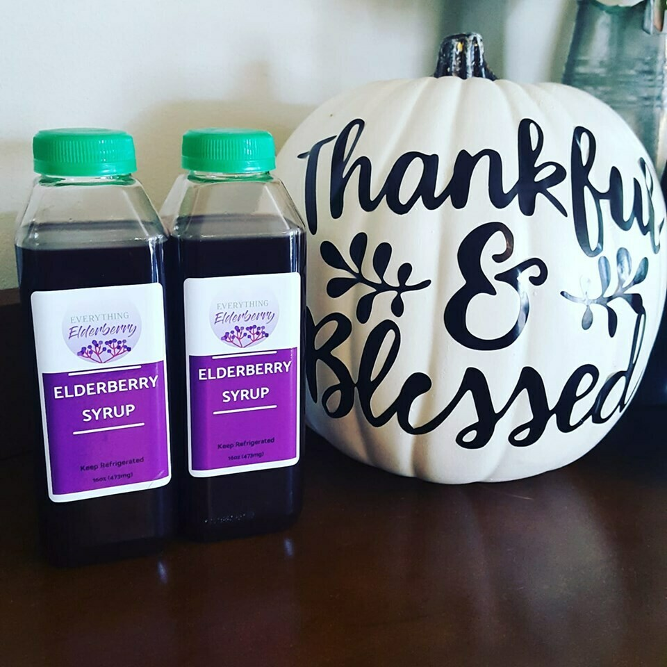 16oz Elderberry syrup - PLASTIC bottle