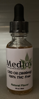 MedJoy™ Super Strength CBD 3,600mg THC Free