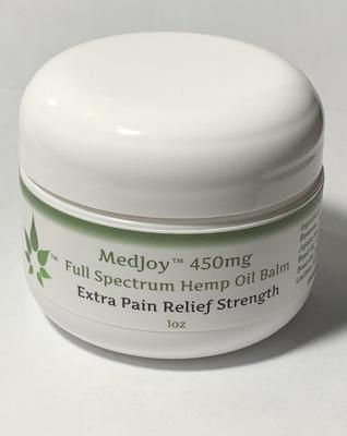 MedJoy™ Full Spectrum Hemp Oil Balm (450mg Hemp Oil) - Extra Strength 1oz
