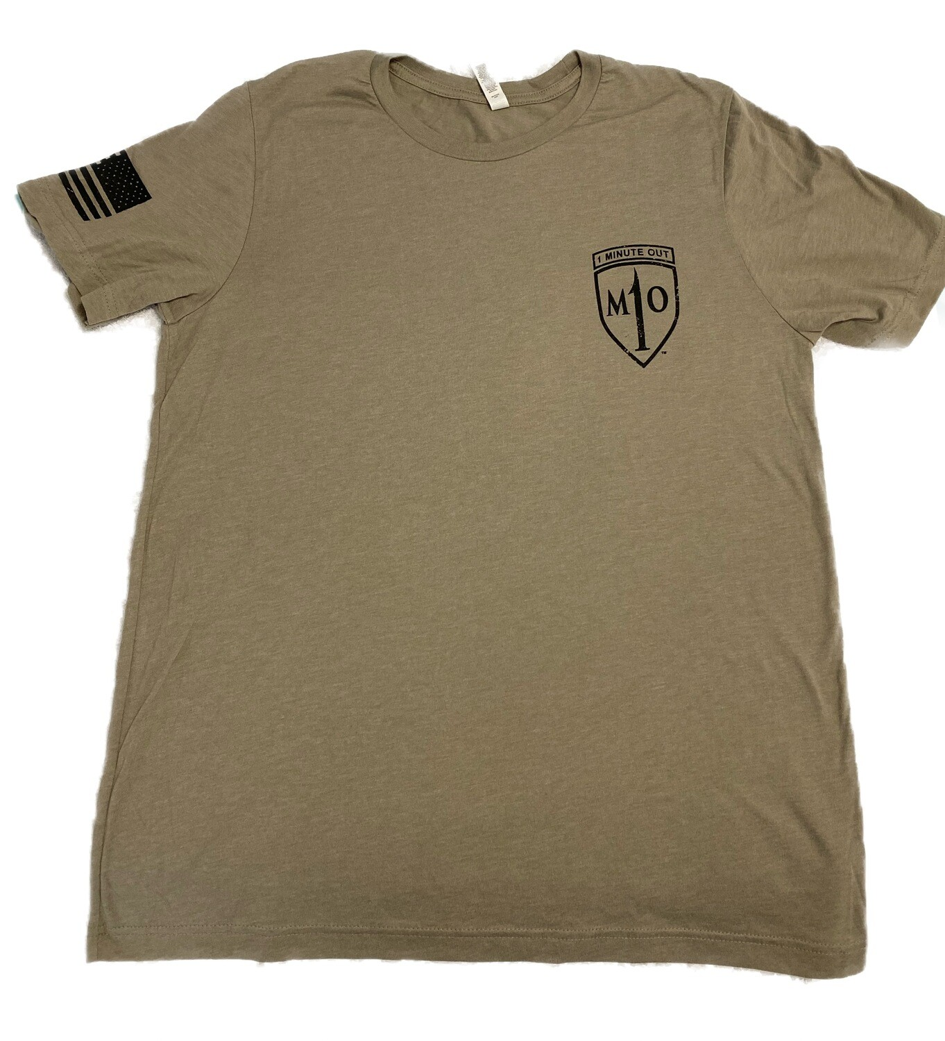 1 Minute Out Stone NVG Operations Logo T-Shirt-XLARGE