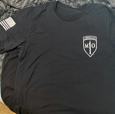 1 Minute Out Logo T-Shirt BLACK