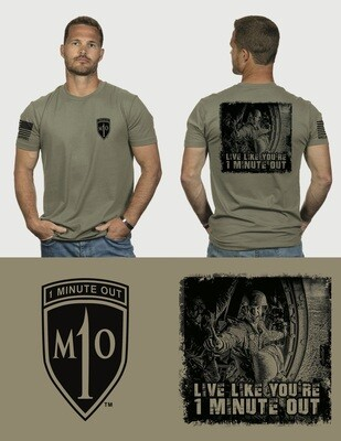 *ON SALE* 1 Minute Out Graphic T-Shirt from Nine Line Apparel
