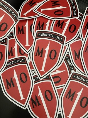 NEW 1 Minute Out Sticker