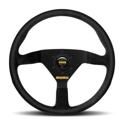 Steering Wheel MomoModel 7832φ New Logo Black Suede/Black Spokes