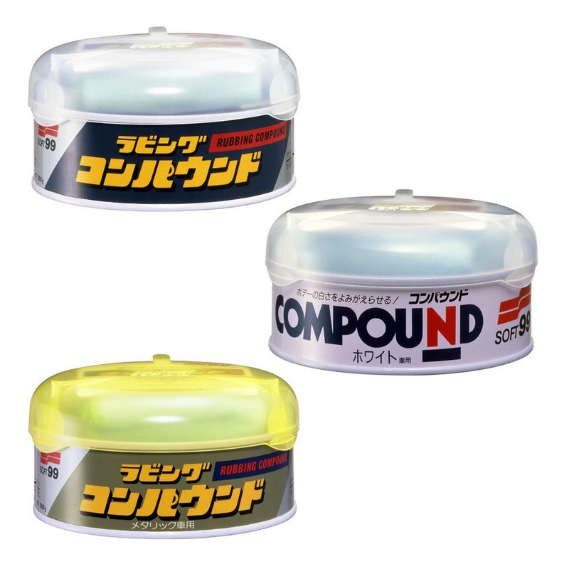 Soft99 Rubbing Compound (3 types)