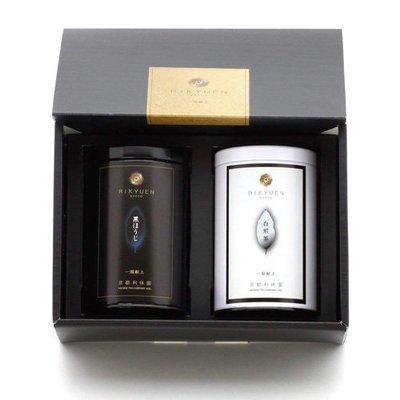 Rikyuen Kyoto Garden Tea Black & White Gift Set
