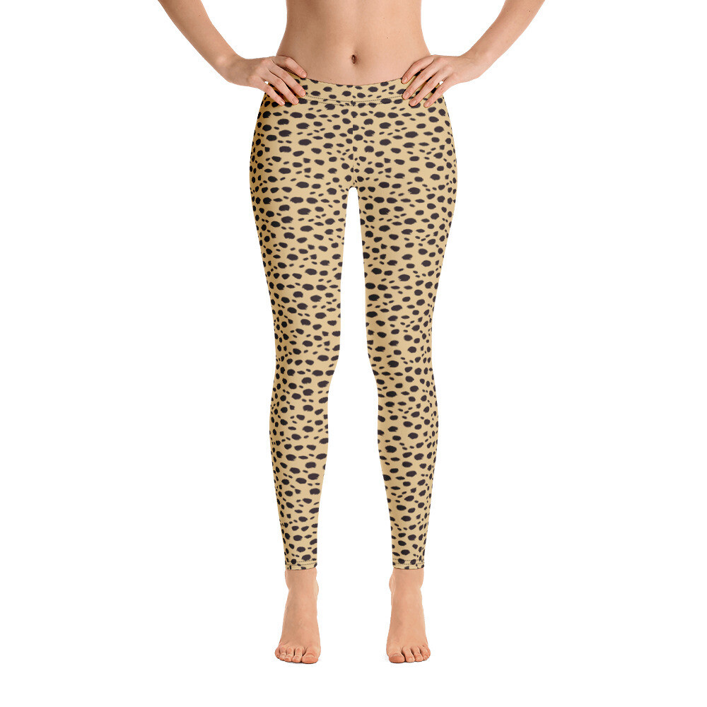 Trendy Animal Skin Leggings for Women Modern Print