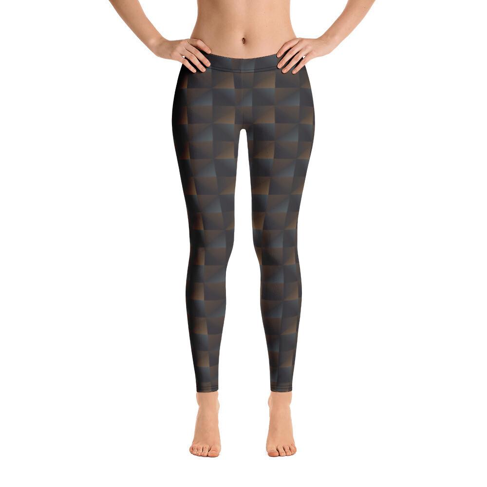 Trangle Pattern Printed Pants Leggings for Women