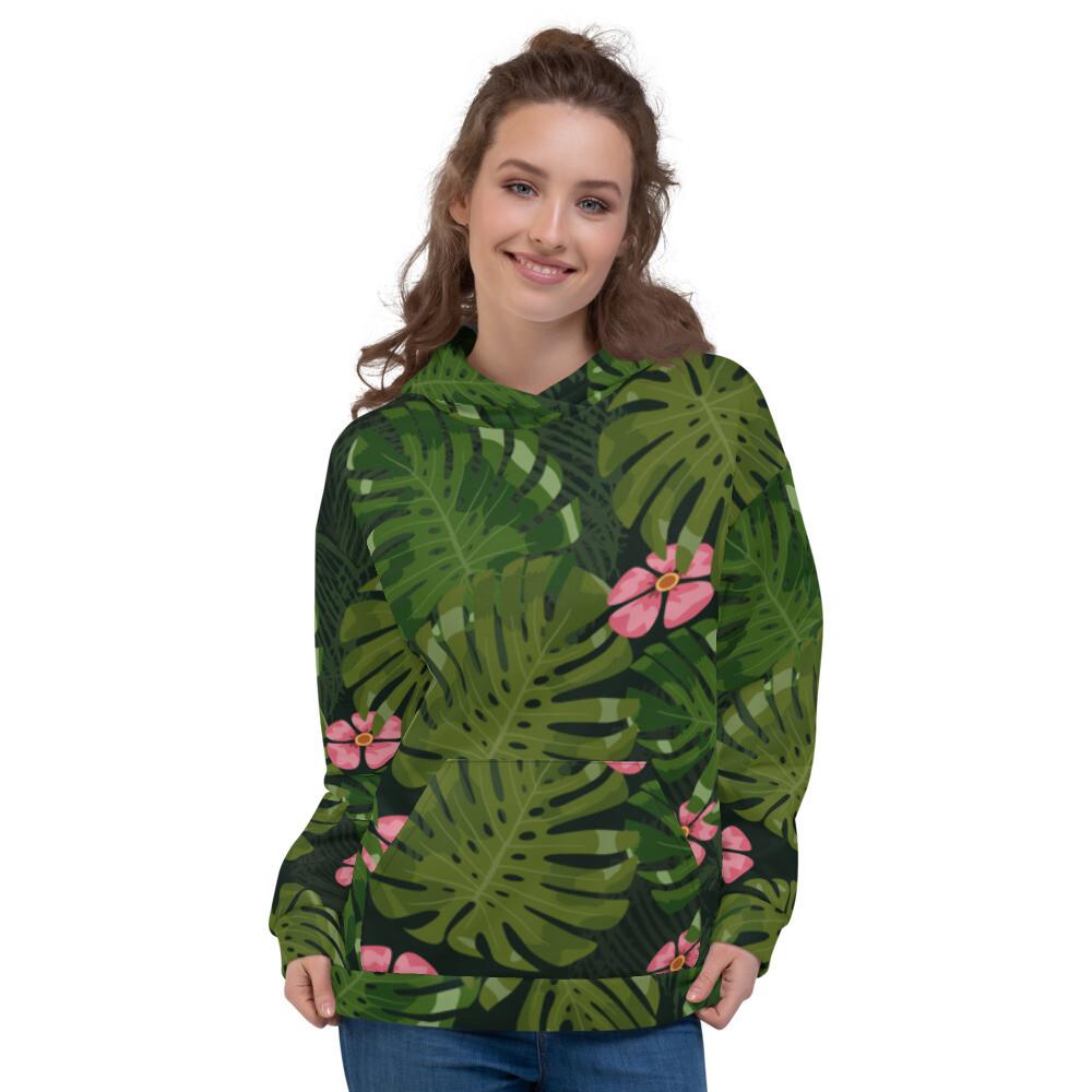 Tropical leaves Modern Printed Unisex Hoodie