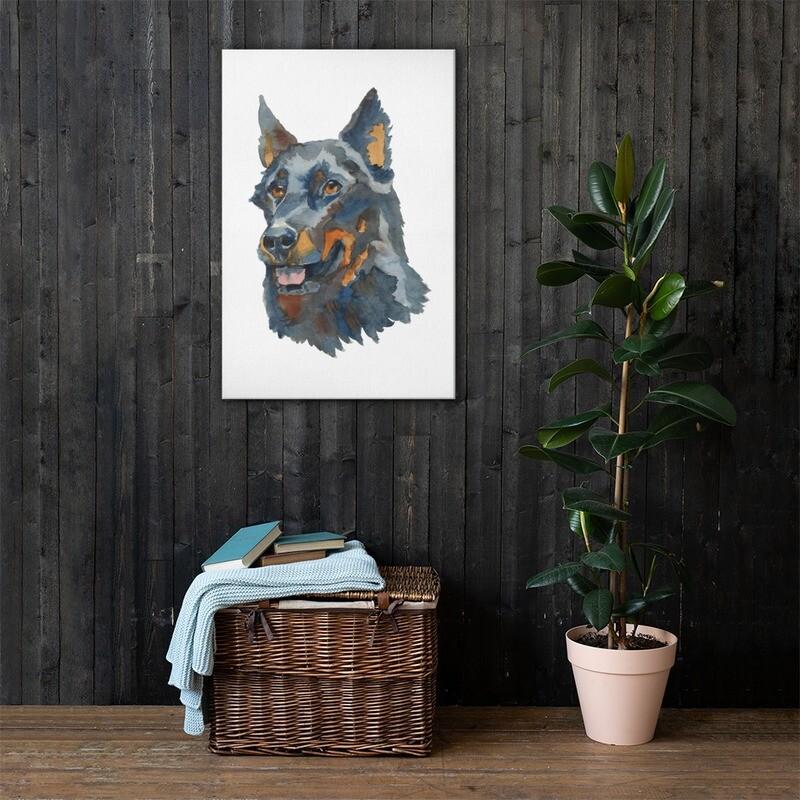 Dog 1 Printed Premium Canvas