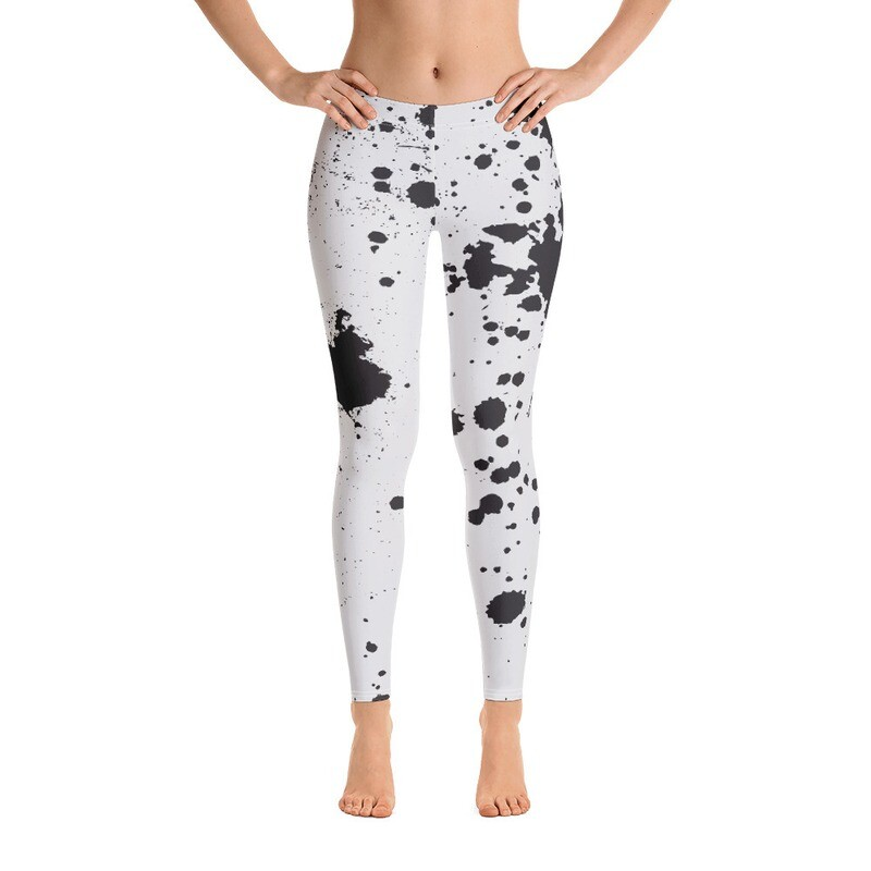 Ink Splatter Printed Women's Leggings