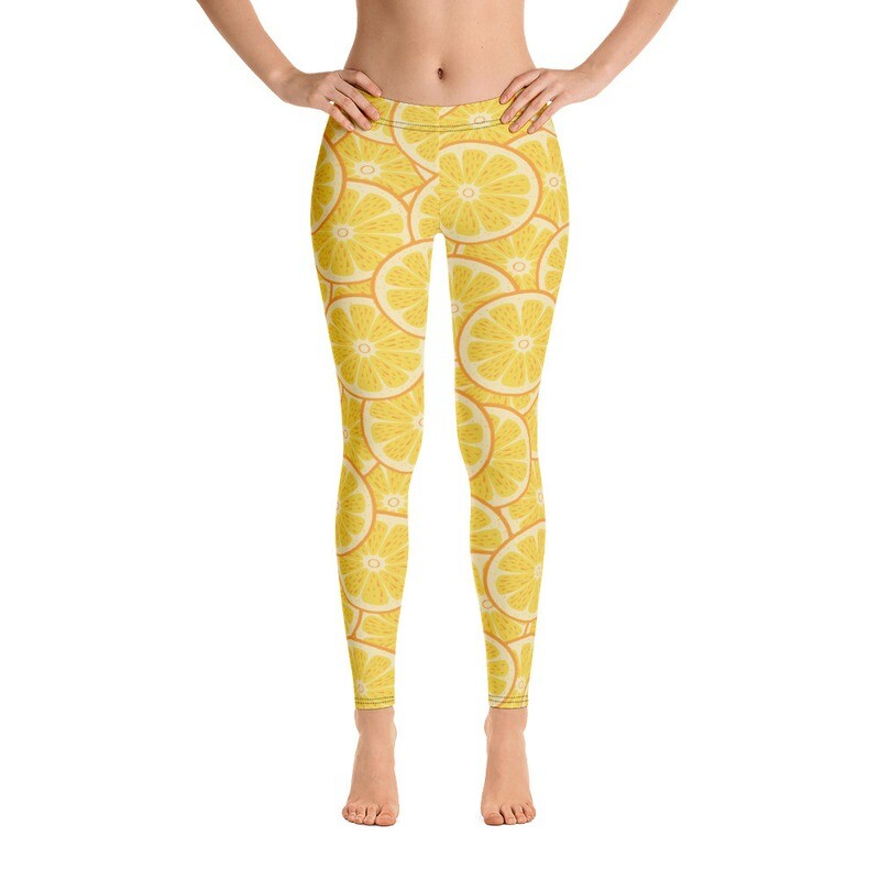 Lemon Full Printed Women's Leggings