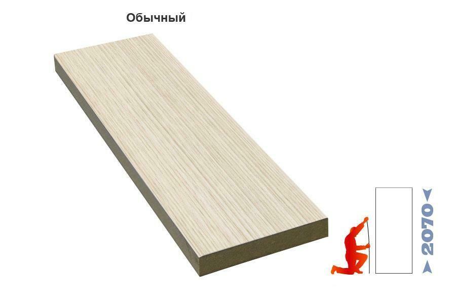 Панель доборная ЭКО-шпон свыше 200 мм (за 1 п см), Optima Porte