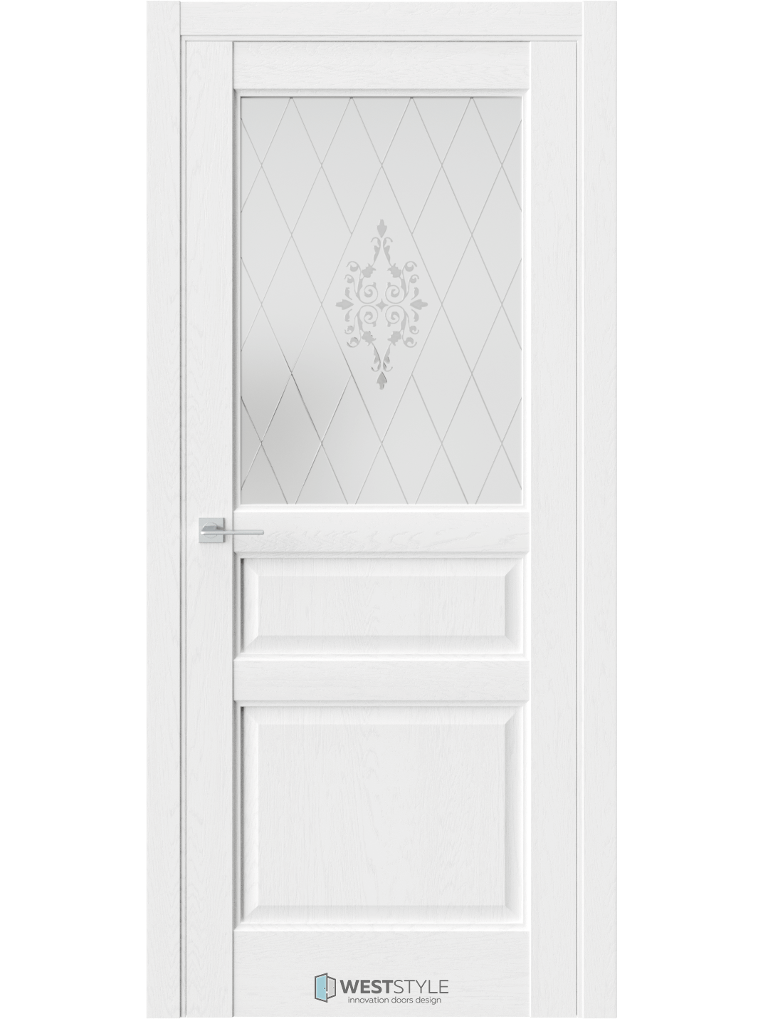 """Дверь экошпон антивандальный """"SE 8"""" остекленная, Weststyle"""