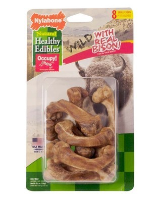 Healthy Edibles Wild Bison Bone Small 8 count