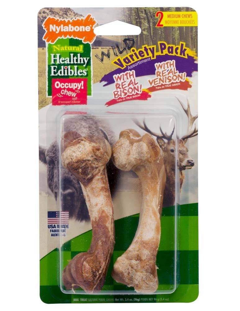 Healthy Edibles Wild Variety Venison and Bison Medium 2 count