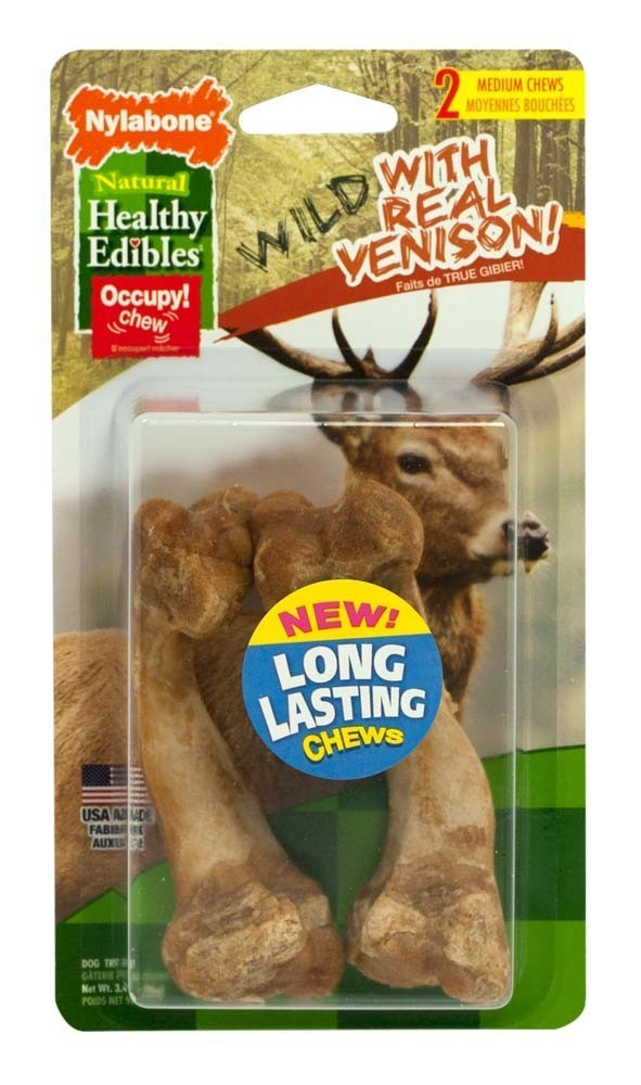 Healthy Edibles Wild Venison Bone Medium 2 count