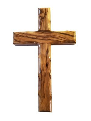 Handcrafted Olive Wood Cross from Bethlehem - Small