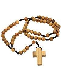 Olive wood rosary
