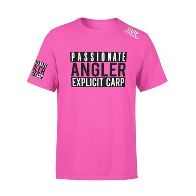 Carpcrossing Explicit Carp T-Shirt Pink