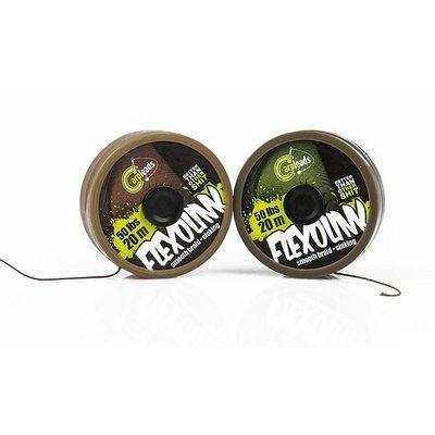 Flexolink 50lbs 20m green / brown