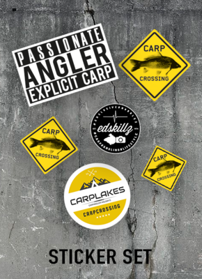 Carpcrossing Sticker Set