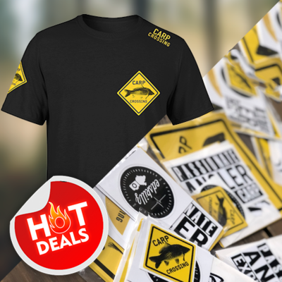 Carpcrossing T-Shirt + Sticker Pack
