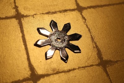 Chrome plating Shuriken (Ninja star):Eight points クロームメッキ手裏剣 八方