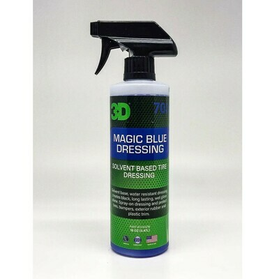 Защитный состав для резины на сольвентной основе 3D Car Care MAGIC BLUE DRESSING, 470мл