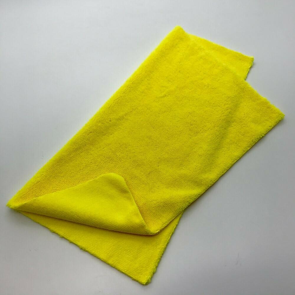 Салфетка разноворсовая бесшовная Желтая Adolf Bucher 400гр, 40х40см