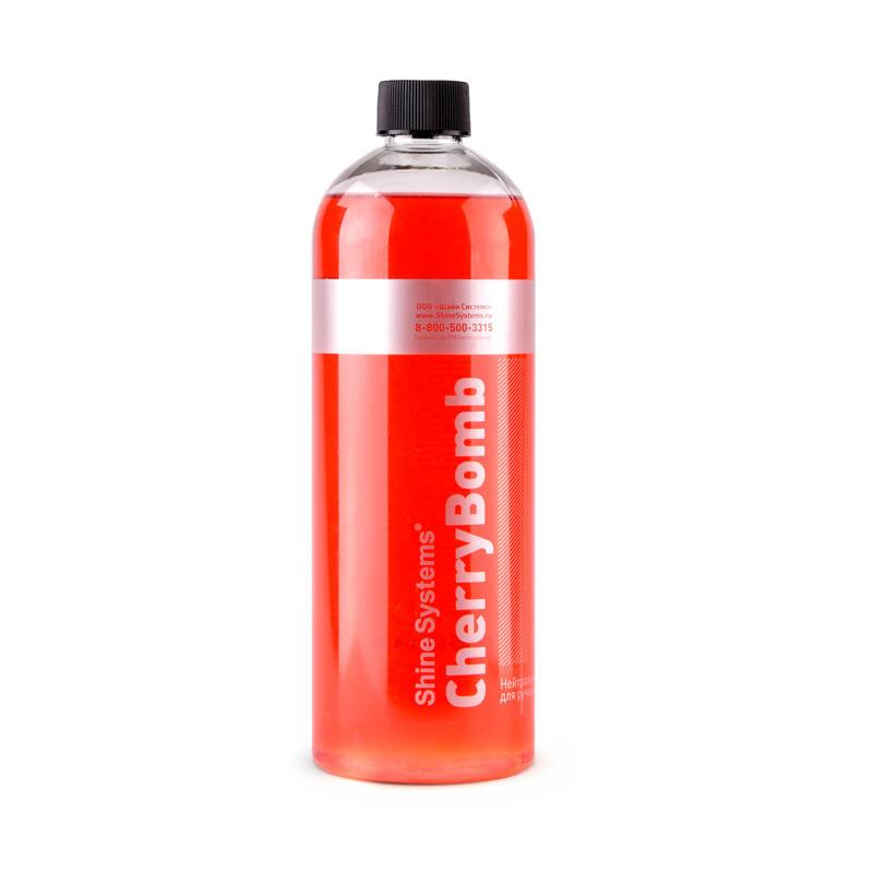 Автошампунь для ручной мойки нейтральный с ароматом Вишни Shine Systems CherryBomb Shampoo, 750мл