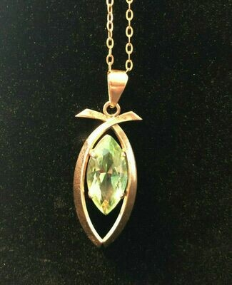 Vintage gold necklace and pendant