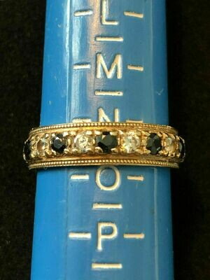 Vintage 9ct gold ring set with semi precious stones and Cubic Zirconias