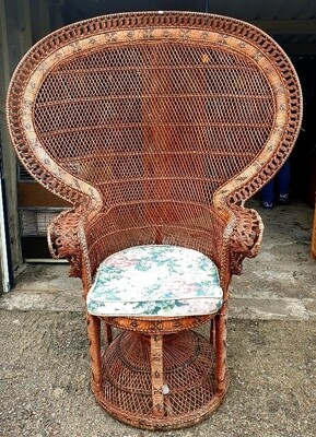 "High Backed ""Peacock"" Rattan Conservatory/Sun Room Chair"