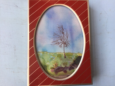 Watercolour On Pure Silk (1992) By Carol Piper, Ard Bruach, Loch Carron