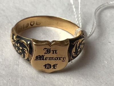 18ct Gold William IV (1834) Mourning Ring
