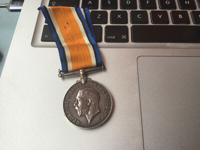 First World War (WW1) 1914-18 Service Medal - Northumberland Fusiliers