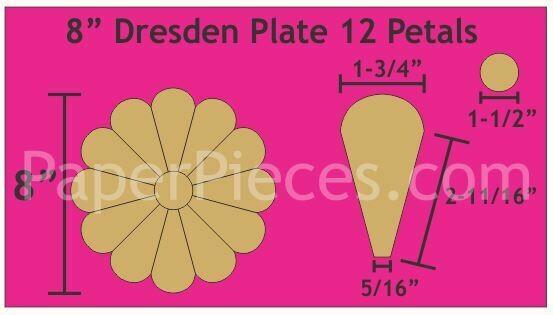 Dresden 8 Inch 12 petal/ blader 12 stk